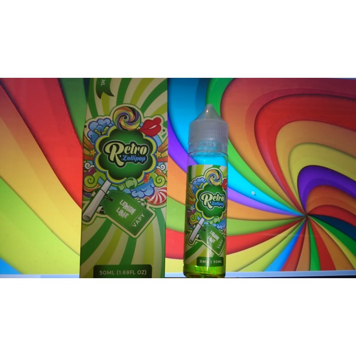 E-liquide Lemon Lime par Retro Lollipop 50 ml